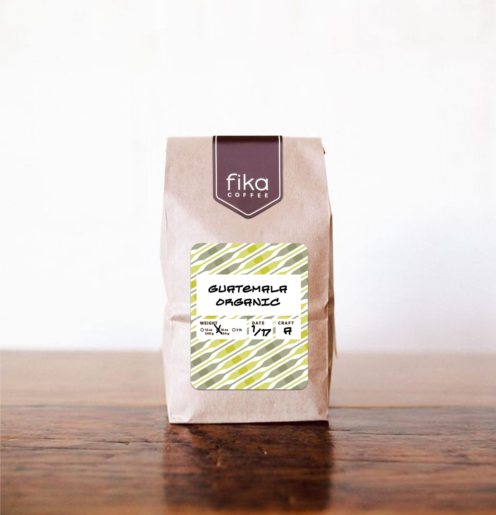 Fika Coffee Packaging Label Sticker-tall 2016-A