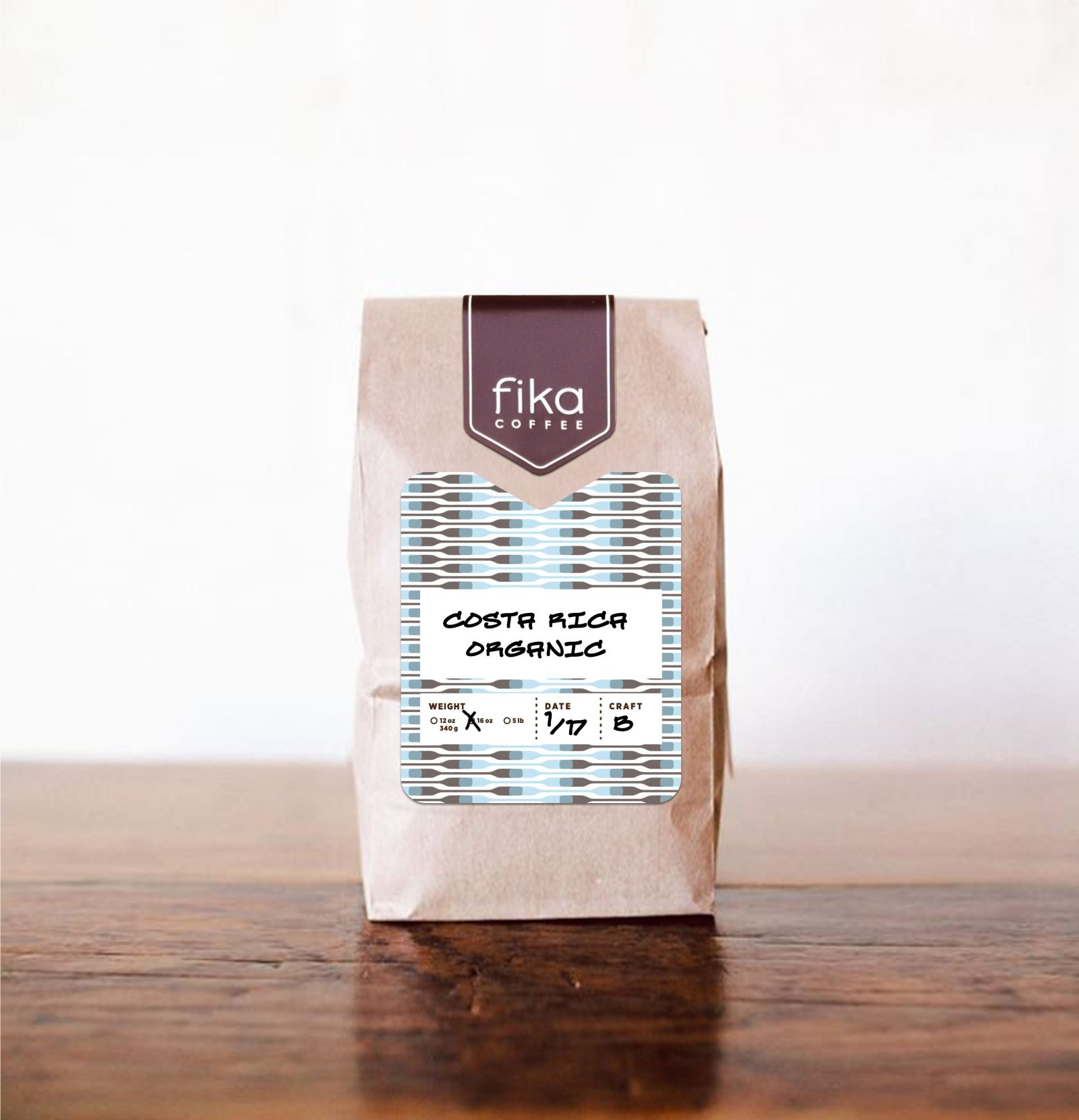 Fika Coffee Packaging Label Sticker-tall 2016-B