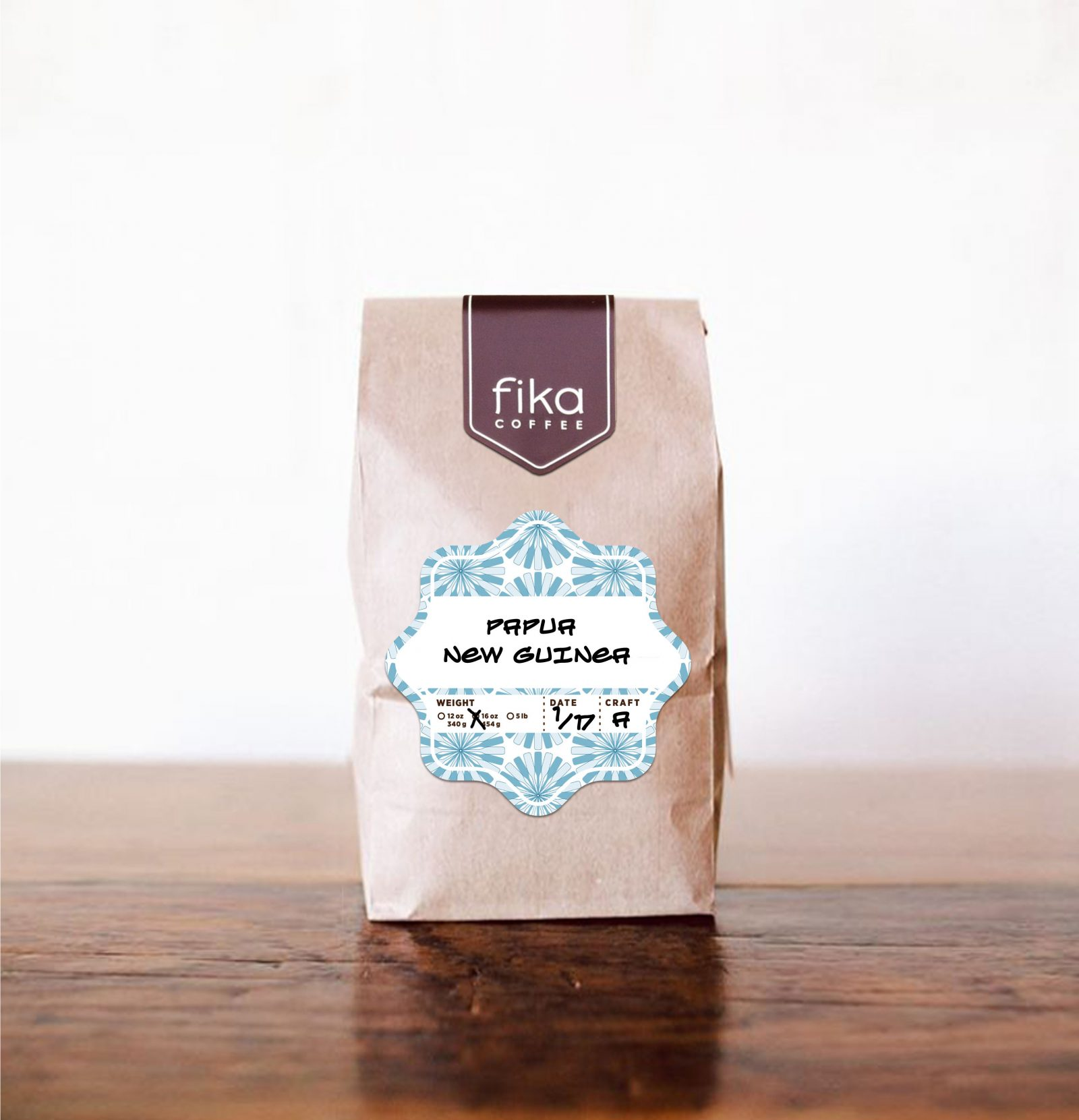 Fika Coffee Packaging Label Sticker-tall 2016-C